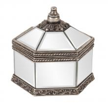 Howard Elliott 11160 - Octagonal Mirrored Jewelry Box