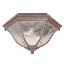 Acclaim Lighting 5615ABZ - Flushmount Collection Ceiling-Mount 2-Light Outdoor Architectural Bronze Light Fixture