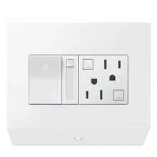 Legrand APCB6W2 - Control Box with Paddle Dimmer and 15A GFCI