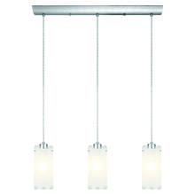 Eglo 90339A - 3x100W Multi Light Pendant w/ Matte Nickel Finish & Frosted Clear Glass
