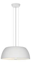 Eglo 90366A - 2x60W Pendant w/ White Frosted Painted Aluminum Finish