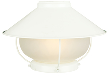 Craftmade OLK13CFL-W - 1 Light Outdoor Bowl Fan Light Kit in White with Frosted Glass
