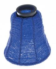 "Satco Products Inc. 90/1317 - Beaded Shade; 5""; Blue Color; 2-1/4"" Fitter"