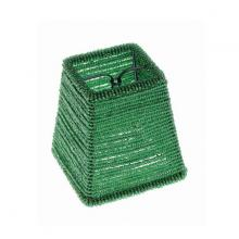 Satco Products Inc. 90/1338 - GREEN BEADED SQUARE FIXTURE SHADE 3 X 4 X 4&#