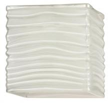 Westinghouse 8504500 - Rippled White Glazed Rectangular Shade