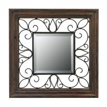 Sterling Industries 26-8652 - Wood Framed Mirror With Iron Detailing