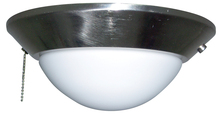 Ellington Fan ELKD-12BNK - 2 Light Bowl Fan Light Kit in Brushed Polished Nickel with Frosted Opal Glass
