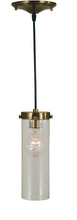 Framburg 4758 AB - 1-Light Antique Brass Hammersmith Pendant