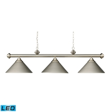 ELK Lighting 168-SN-LED - Casual Traditions 3 Light LED Billiard In Satin