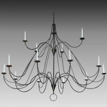 "Meyda Tiffany 127595 - 96""W Polonaise 15 Candles Two Tier Chandelier"